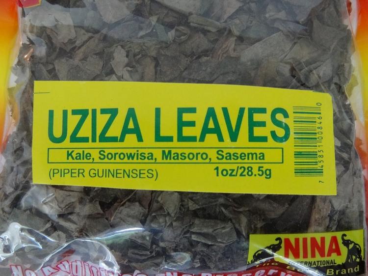 Piper Guineense Leaves - Uziza Leaves ( 1 oz )