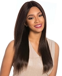 100% BRAZILIAN REMY SWISS 4X4 LACE FRONT WIG/ MORE VIEWS    SENSATIONNEL BARE & NATURAL /  NATURAL YAKI