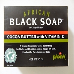 African Black Soap with Cocoa Butter & Vitamine E by Madina Industrial Corp ( 3.5 oz )