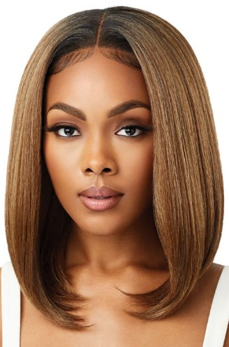 FRONT WIG PERFECT HAIRLINE/ OUTRE SYNTHETIC LACE/  13X4 FAUX SCALP DANNITA