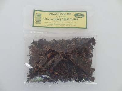 African Black Mushrooms - Champignons Noirs Africain ( 2 oz )