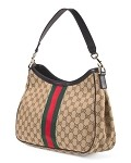Leather Logo Hobo by GUCCI